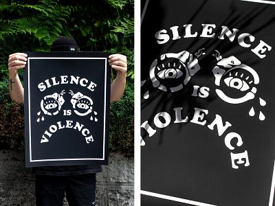 """Silence Is"" Print blm silence is violence"