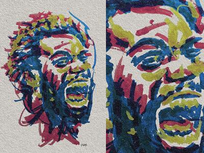Jordan Burroughs Portrait wrestler wrestling portrait jordan burroughs