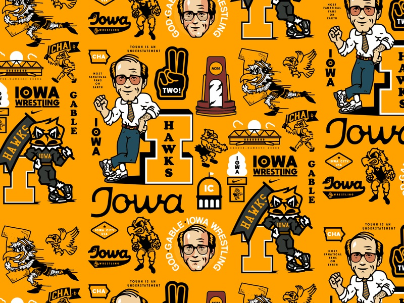 Iowa Hawkeye Wrestling herky wrestling iowa