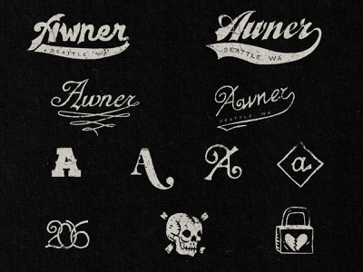 Raw Type & Marks lockup hand lettering raw type lettering type skull