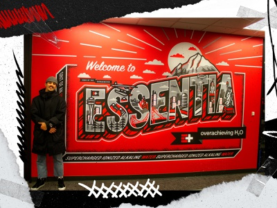 Welcome to Essentia Mural seattle rainier postcar mural