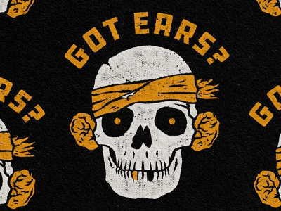 Got Ears? grappling wrestling cauliflower ear ears skull