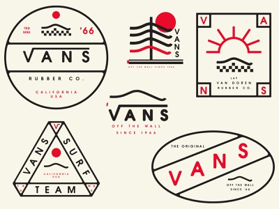 Vans tree surf skate lockups badges shoes vans