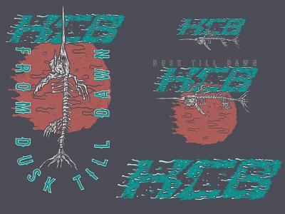 HCB Dusk Till Dawn bone skeleton marlin