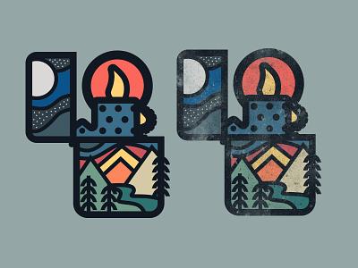 Zippo mountain badge lighter zippo