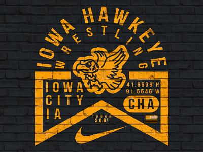 Iowa Badge hawk wrestling iowa hawkeyes