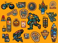 Outdoor Badges & Illustrations