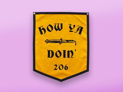 How Ya Doin? switchblade flag