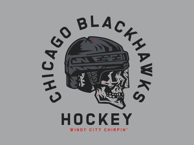 Windy City Chirpin' skull blackhawks chicago hockey