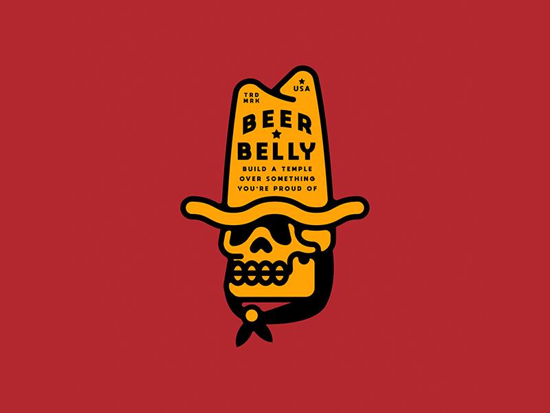 Beer Belly cowboy beer skull