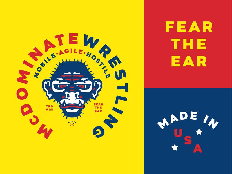 Fear the Ear. cauliflower ear monkey wrestling