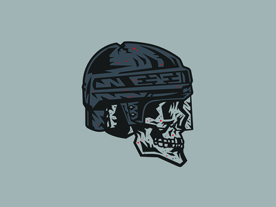 Crack Skulls! skeleton hockey helmet hockey skull