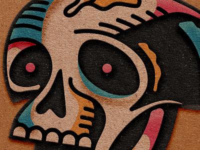 Cut Paper Skull 3d cut paper paper