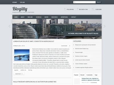 Blogitty WordPress theme - Mainpage