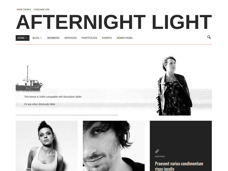 Afternight - Light version wordpress theme