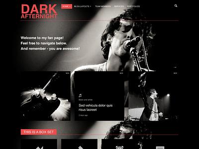 Afternight - Dark version wordpress events theme