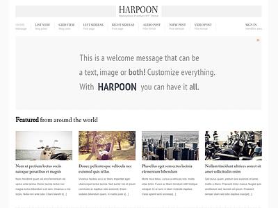 Harpoon - Mainpage minimal gray wordpress blog theme