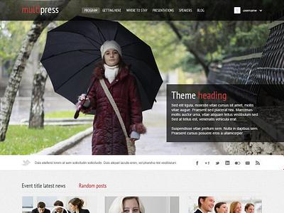 Multipress web design wordpress theme