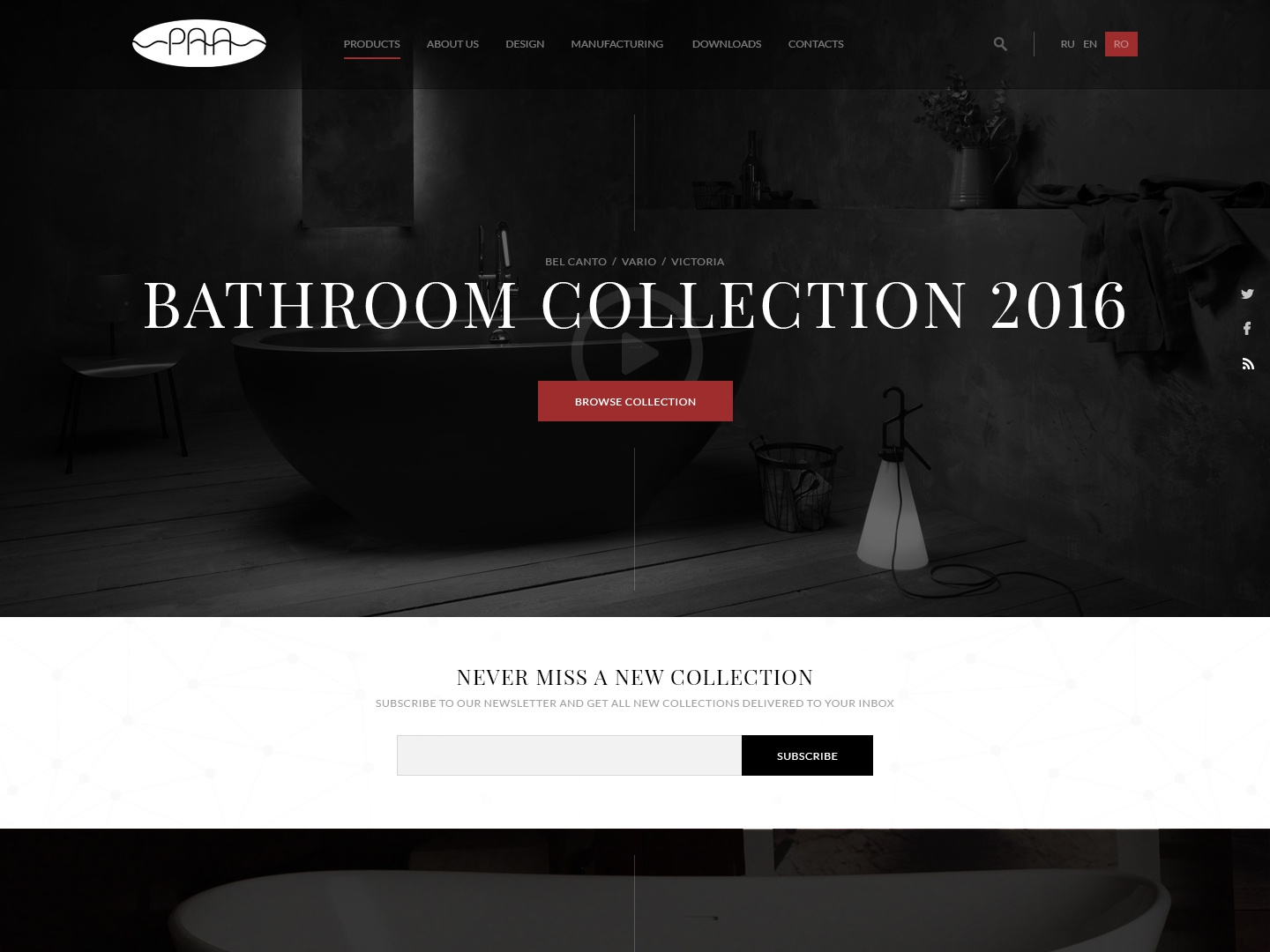 Bathroom collection landing page collection bathroom