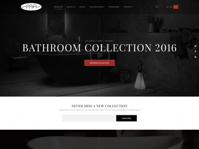 Bathroom collection landing page