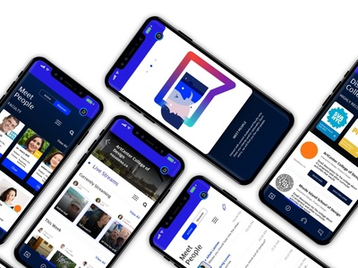 Vieuni: College search assistant app concept high school design ux user experience illustration typography identity design branding user interface ui ux education students college