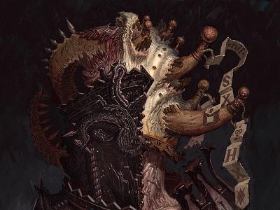 Illustration: Baron von Stitch-Tit (update/wip02) digital wip matthewglewis demon monster lostkeep artist art illustration conceptart