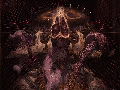 Nord art illustration lostkeep monster halloween horror scary cartoon demon character poster design