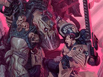 PinkHammer 40,000 matthewglewis horror macabre lost keep illustration warhammer 40k conceptart matthew g lewis