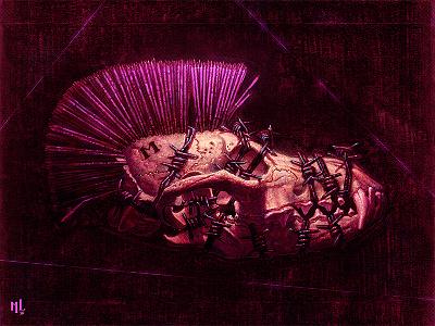 Illustration | Melankolia conceptart horror tattoo design typography illustration art lostkeep matthewglewis