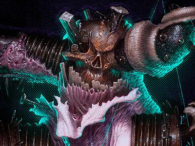illustration | j.kobb: the ascender digital halloween conceptart scary design macabre demon monster matthewglewis lostkeep art horror illustration