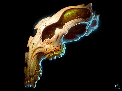 skullz | jellybeanz o2 digital character halloween design conceptart scary macabre demon monster matthewglewis lostkeep art horror illustration