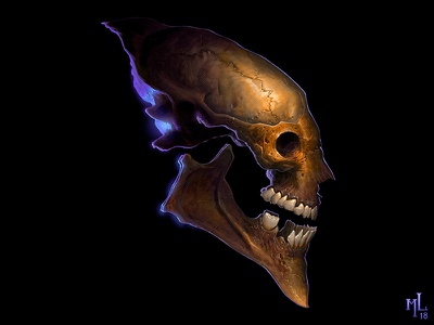 skullz | dark n' dirty o1 cartoon digital character halloween design conceptart scary macabre demon monster matthewglewis lostkeep art horror illustration