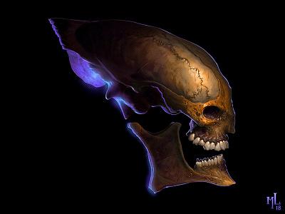 skullz | dark n' dirty o2 cartoon digital character halloween design conceptart scary macabre demon monster matthewglewis lostkeep art horror illustration