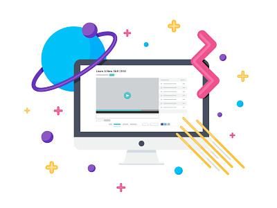 Learn A New Skill design vector illustration
