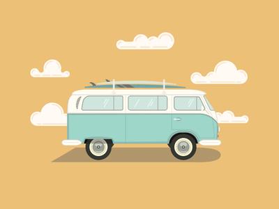 VW Bus design vector illustration