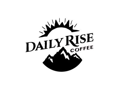 Logo –Daily Rise Coffee design illustration logo