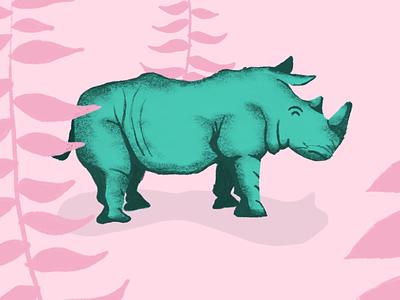 Rhino-Sarus colors texture rhino procreate design illustration