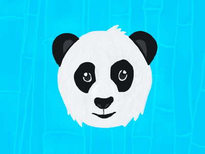Hello Panda texture animal character design illustration