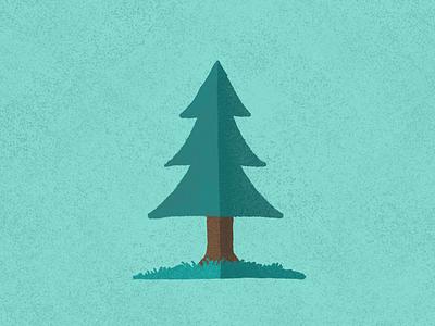 Happy Tree nature minimalism procreate illustration design
