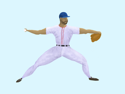 The Pitch baseball people procreate illustration