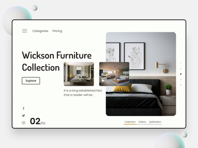 Modern Furniture Website architecture furniture website ecommerce ui design home page homepage landingpage landing page product shop home furniture furniture store interior website ux ui website design web design webdesign web