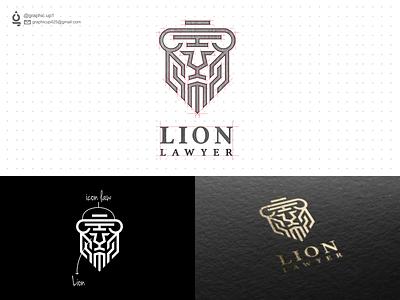 lion lawyer logos law lion logodesign agency vector branding awesome logo simple logo icon lineart brand logo design