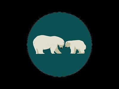 Polar bears polarbear bear love cute vector redbubbleshop redbubble print illustration fudechanart design
