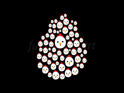 Chicken Time! easter egg chicken fun vector redbubbleshop redbubble print illustration fudechanart design