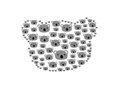 Koala Time! koala bear koala bear cute vector redbubbleshop redbubble print illustration fudechanart design