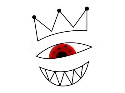 King Eye crazy abstract royal crown vector redbubbleshop redbubble print illustration fudechanart design