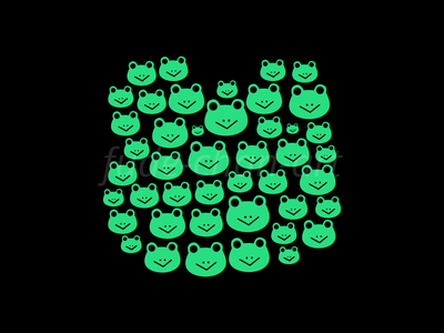 Frog Time! frog cute vector redbubbleshop redbubble print illustration fudechanart design