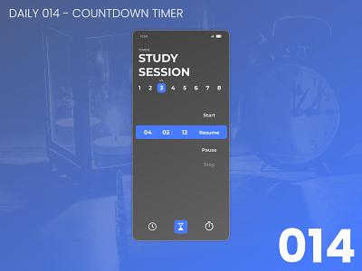Daily UI 014 - Countdown timer app 014 design daily ui dailyui ui 100daychallenge