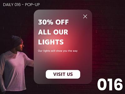 Daily UI #016 - Pop-up design 016 daily ui dailyui ui 100daychallenge