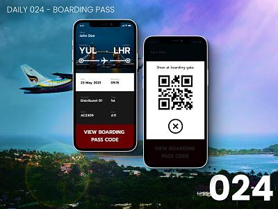 Daily UI #024 - Boarding Pass 024 app design daily ui dailyui ui 100daychallenge